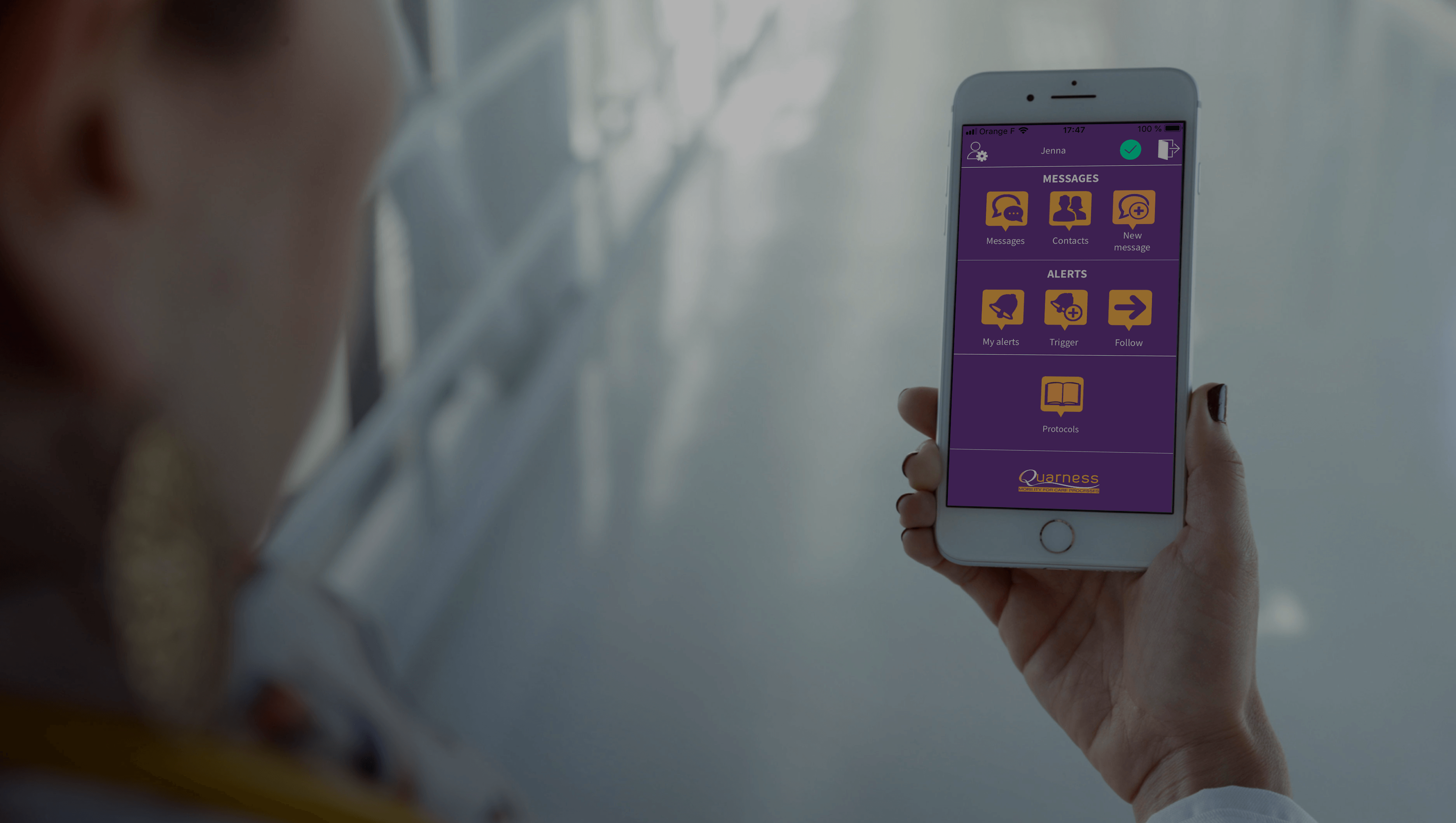Quarness, mobile solution for daily coordination of care